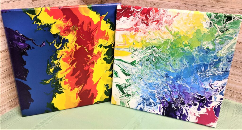 Adult Canvas Acrylic Paint Pour Party